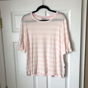 ASOS Noisy May heather frill pink striped top